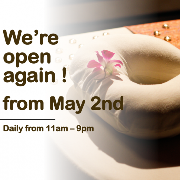 We're open again! From May 2nd!